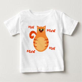 オレンジ虎猫猫の幼児のティー ベビーTシャツ