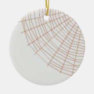 オレンジ蜘蛛の巣のクリスマスの装飾 セラミックオーナメント