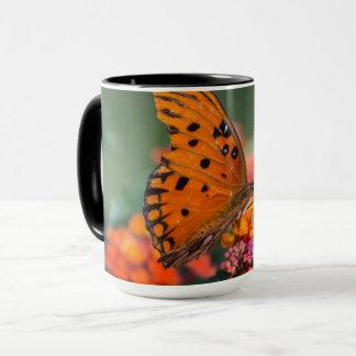 オレンジ蝶 マグカップ