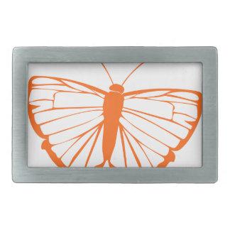 オレンジ蝶 長方形ベルトバックル