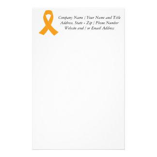 オレンジ認識度のリボン-白血病、MS 便箋