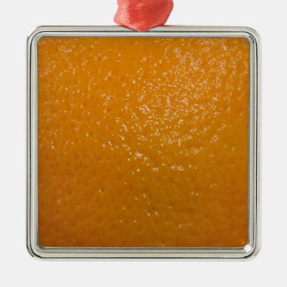オレンジ質 シルバーカラー正方形オーナメント