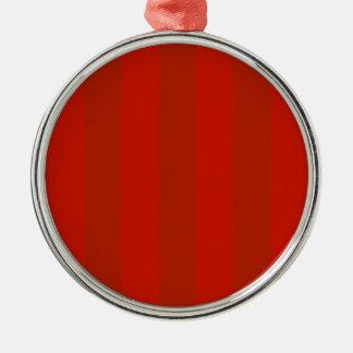 オレンジ赤のストライプ メタルオーナメント