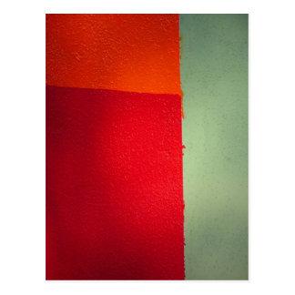 オレンジ赤の緑-郵便はがきの… ポストカード