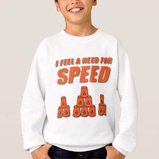 オレンジ速度のための必要性 スウェットシャツ