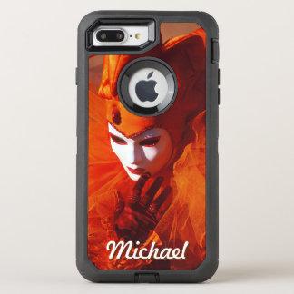 オレンジ道化師の衣裳のカーニバルのキャラクター オッターボックスディフェンダーiPhone 8 PLUS/7 PLUSケース