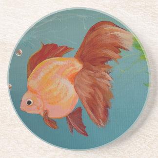 オレンジ金魚のコースター コースター