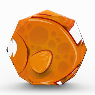 オレンジ金魚 表彰盾
