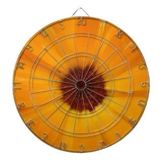 オレンジ雨デイジーの投げ矢板 ダーツボード