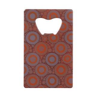 オレンジ青い円の抽象芸術 ウォレット 栓抜き