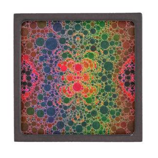 オレンジ青緑の抽象芸術 ギフトボックス