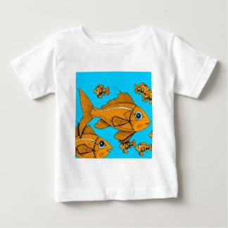オレンジ魚 ベビーTシャツ