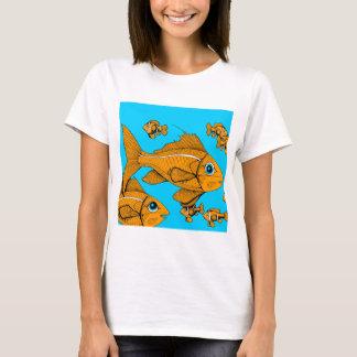 オレンジ魚 Tシャツ