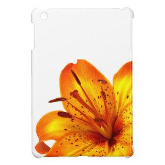 オレンジ黄色のオニユリ iPad MINIカバー
