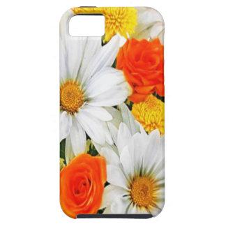 オレンジ黄色の白い花のiphone 5 iPhone SE/5/5s ケース
