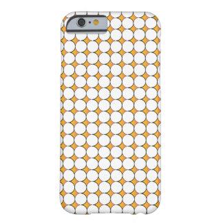 オレンジ黒い円パターン- iの電話6箱 barely there iPhone 6 ケース