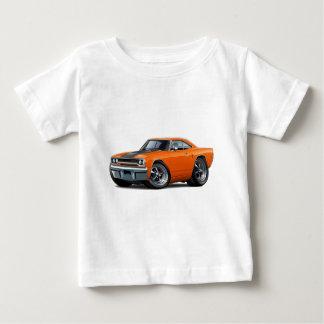 オレンジ黒い1970年のロードランナー ベビーTシャツ