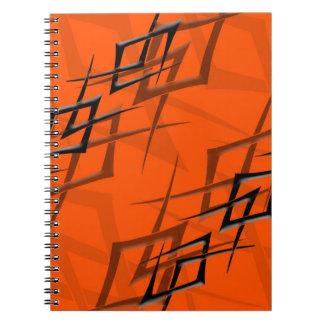 """オレンジ""""とげ""""のノートの黒 ノートブック"""