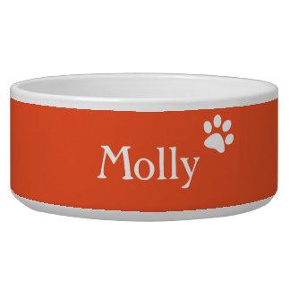 オレンジ|名前入りな犬の皿 犬のえさ皿