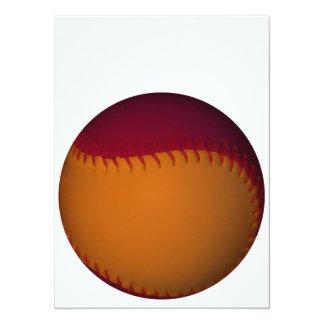 オレンジ|暗い|赤い|野球 14 X 19.1 インビテーションカード