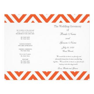 オレンジ|灰色|シェブロン|現代的|結婚|プログラム