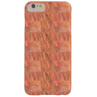 オレンジ、赤い及び黄褐色のパターンとのiPhone 6のプラスの場合 Barely There iPhone 6 Plus ケース