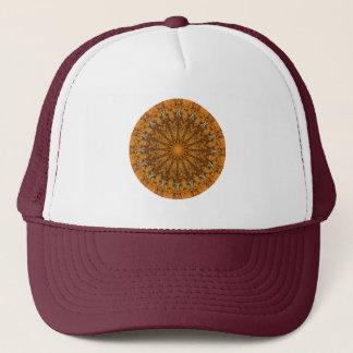 """オレンジ、金ゴールド、及びブラウンの""""季節: 秋の""""曼荼羅 キャップ"""