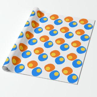 オレンジ、青および黄色のデザイン ラッピングペーパー