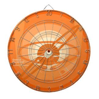 オレンジChakationの投げ矢板 ダーツボード