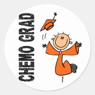 オレンジCHEMOの卒業生1 (白血病) ラウンドシール