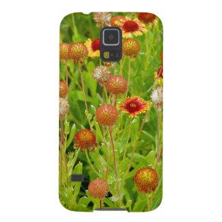 オレンジechinaceaの花園のプリント galaxy s5 ケース