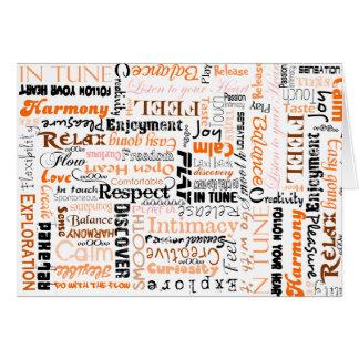 オレンジSacralチャクラの陽性の断言 カード