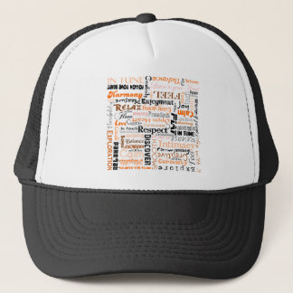 オレンジSacralチャクラの陽性の断言 キャップ