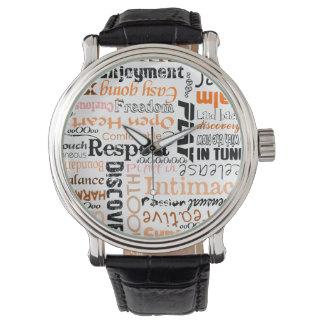 オレンジSacralチャクラの陽性の断言 腕時計