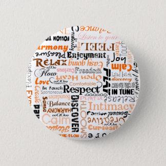 オレンジSacralチャクラの陽性の断言 5.7cm 丸型バッジ