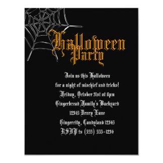 オレンジSpiderwebのハローウィンパーティの招待 10.8 X 14 インビテーションカード