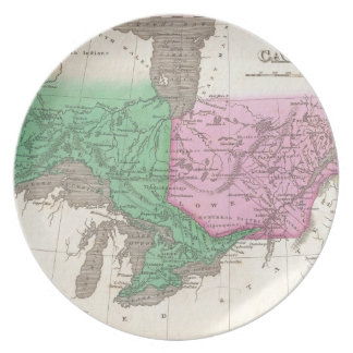 オンタリオおよびケベック(1827年)のヴィンテージの地図 プレート