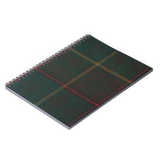オンタリオのタータンチェックの螺旋綴じのノート ノートブック