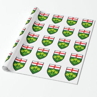オンタリオの旗 ラッピングペーパー