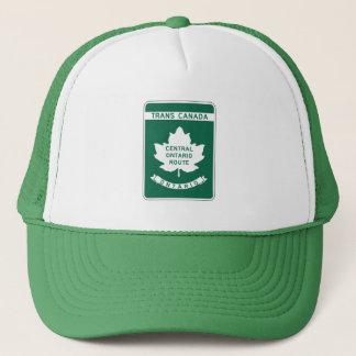 オンタリオのTRANSカナダのハイウェーの印 キャップ