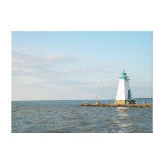 オンタリオ湖のキャンバスプリントの灯台 キャンバスプリント