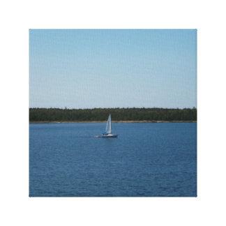 オンタリオ湖のヨット キャンバスプリント