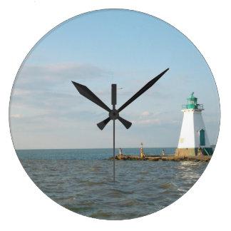 オンタリオ湖の時計の灯台 ラージ壁時計