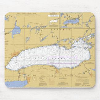 オンタリオ湖の航海のな図表 マウスパッド