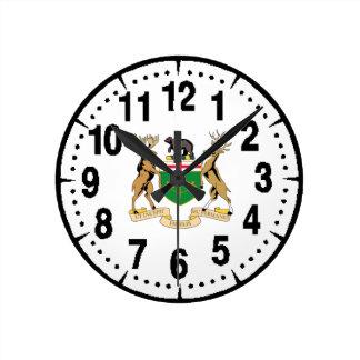 オンタリオ(カナダ)の紋章付き外衣 ラウンド壁時計