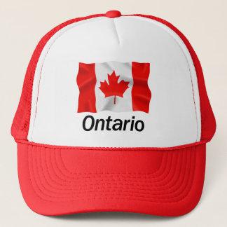 オンタリオ-赤いトラック運転手の帽子 キャップ