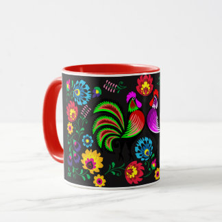 オンドリのデザイン10の年 マグカップ