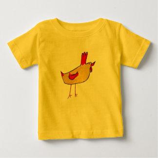 オンドリのベビー ベビーTシャツ