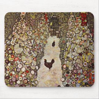 オンドリのマウスパッドが付いているクリムトの庭 マウスパッド