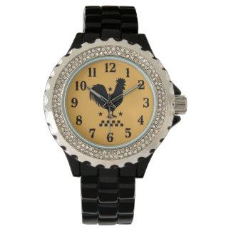 オンドリのラインストーンのeWatch 腕時計